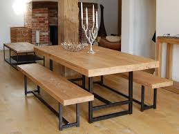 dining room charming design of table with bench seat varnished