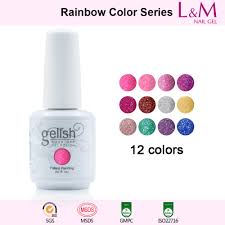 rainbow series ido gelish rainbow series soak off gel nail polish