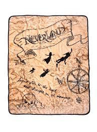 Map Of Neverland Disney Peter Pan Neverland Map Sketch Art Plush Throw Blanket
