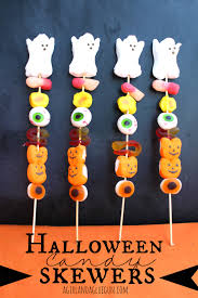 halloween candy skewers a and a glue gun