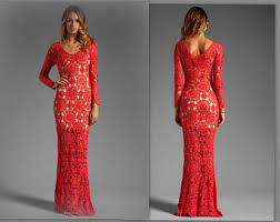 Wedding Evening Dresses Red Wedding Dress Etsy