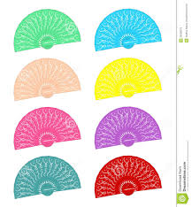 held fans held fans in different colours royalty free stock images
