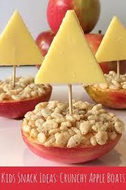 simple kids snack ideas crunchy apple boats snacks ideas