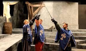 hat trick theatre u0027s farcical u0027the musketeers u0027
