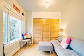 Contemporary Closet Doors For Bedrooms Modern Closet Doors Bedroom Eclectic With Artwork Blinds Blonde