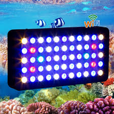 led lights for coral tanks 2015 wifi 165w led aquarium light dimmable for coral reef fish