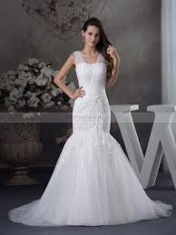 wedding dress sheer straps sleeveless tulle and satin appliqued wedding dress with sheer