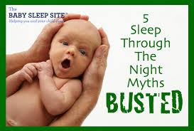5 myths about babies sleeping through the the baby sleep