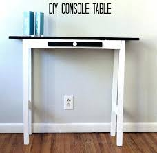 Diy Console Table Plans Diy Rustic Wood Console Table Easy Entryway Pallet Free Plans X