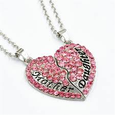 s day necklaces everyshine pink women s necklaces heart