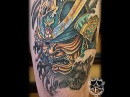traditional samurai mask tattoo design tattooshunter com