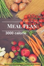 3000 calorie meal plan bodybuilding by john com muscle mass