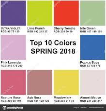 colors spring 2017 top 10 colors spring 2018 trendy colors of a season stock