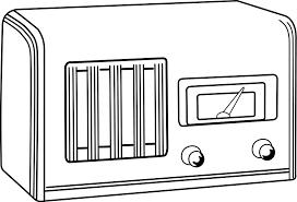 simple radio clipart vector clip art royalty free design