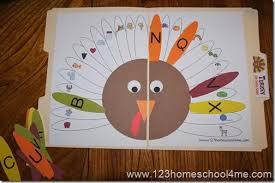 free alphabet turkey file folder file