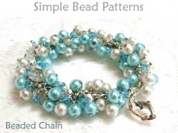 beaded chain bracelet images Learn how to make a wire wrapped bracelet with chain pearls crystals jpg
