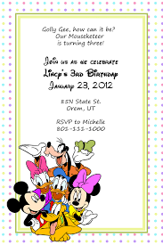 birthday invitation template for mickey mouse and friends fans