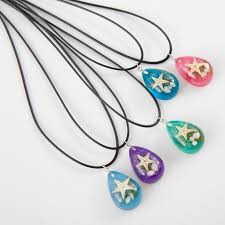 resin necklace wholesale images Wholesale starfish pendant necklace luminous resin water drop jpg