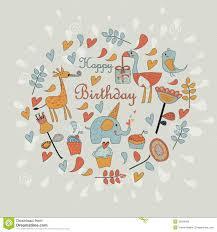 happy birthday greeting card stock vector image 35634508