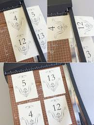 free printable wedding table numbers templates 28 images 8