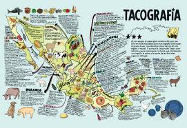 Map Of Mexico by Taco Map Of Mexico Via Burrito Justice Buzz Andersen