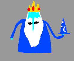 ice king adventure time with a blue wizard hat drawing by mykull91