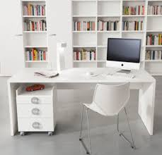 modern glass desk with drawers furniture slim white glossy wooden finishing for minimalist