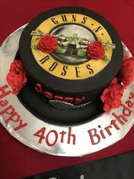 Axl Rose Meme Cake - guns and roses birthday cake i want axl and his bride on top