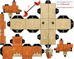 printable halloween crafts download print cut u0026 fold turn sam into a cubeecraft with this