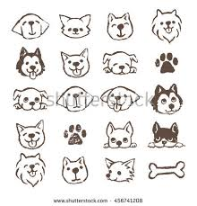 Types Of Dogs Different Types Dogs Icon Set Color Stock Vector 456745090