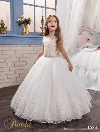 kids wedding dresses kids wedding dresses with cap sleeves and beaded sash 2017