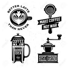 Coffee War coffee related illustration with quotes rise and grind better