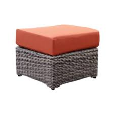 Canvas Ottoman by Hampton Bay Outdoor Ottomans Outdoor Lounge Furniture The