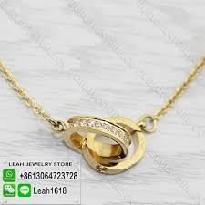 cartier love necklace images Cartier love necklace replica paved diamonds yellow gold b7013800 jpg
