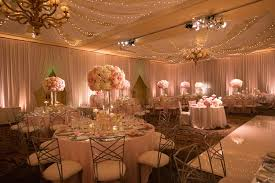 reception décor photos candlelit pink white reception inside