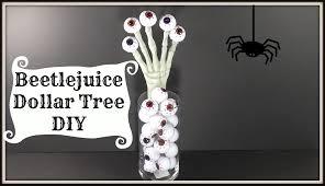 beetlejuice inspired dollar tree diy easy halloween decor youtube
