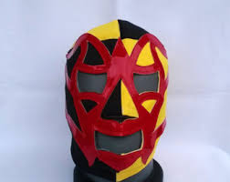 Luchador Halloween Costume Batman Mask Adam West Style Wrestling Lucha Libre Mask