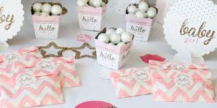 pink and gold party supplies hello one pink and gold baby shower theme