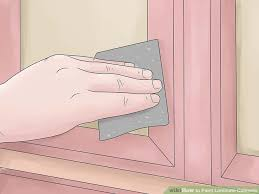 How To Strip Paint From Cabinets How To Paint Laminate Cabinets 7 Steps With Pictures Wikihow
