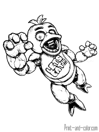 chica nights freddy u0027s coloring pages coloring