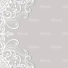 Standard Invitation Card Sizes Lace Invitation Card Floral And Geometric Background Stock Vector