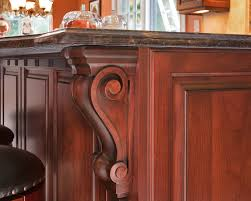 Kitchen Island With Corbels Dark Cherry Kitchen Perfection Wall New Jersey By Design Line Kitchens