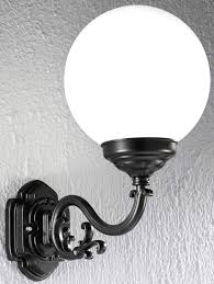 globe outside wall lights with outdoor white plastic or pmma