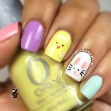 easter bunny nails the crafty ninja