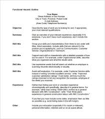 resume layout exle resume outlines 1 outline template 10 free word excel pdf format
