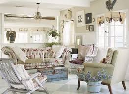 shabby chic decor in country style with antique chair sofa and