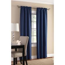 Navy Window Curtains Interior Blue Blackout Panel Window Curtains For Alluring