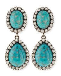 turquoise drop earrings dannijo turquoise drop earrings