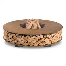 Firepit Wood 35 Metal Pit Designs And Outdoor Setting Ideas