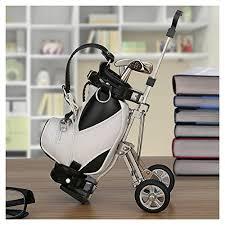 Office Desk Gifts Golf Gifts Pen Holder With 3 Pens Bag Holder Golf Decorations